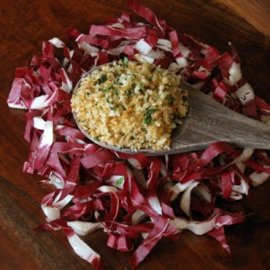 garlic breadcrumbs and radicchio