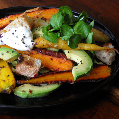 roast carrot salad