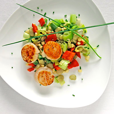 scallops and succotash from Sippity Sup