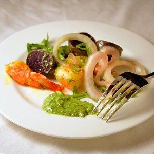 grilled shrimp purple potatoes