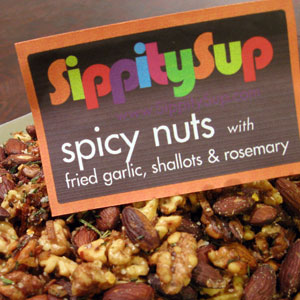 spiced nuts from Sippity Sup