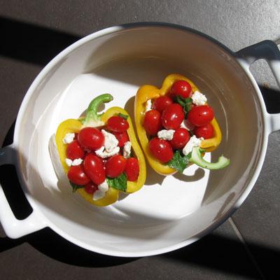 stuffed yellow peppers