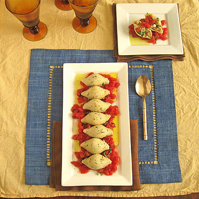 swordfish pasta shells