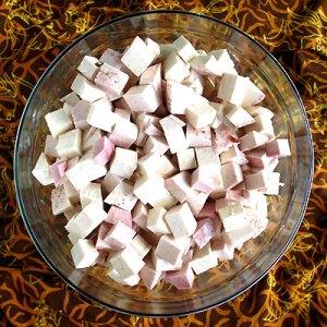 taro peeled & cut into cubes