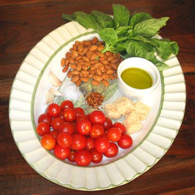 ingredients for pesto trapanese