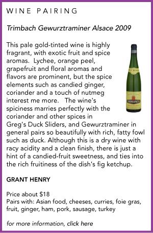 Trimbach wine pairing