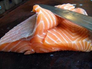 butterflied salmon fillet