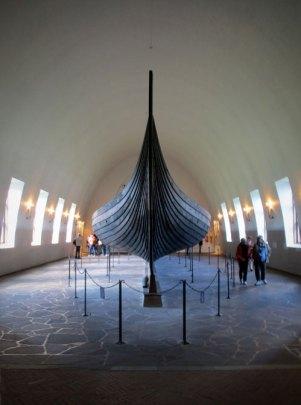 viking ship in Oslo museum