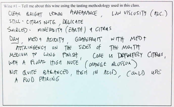 wine tasting notes- chablis