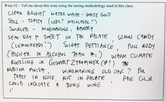 wine tasting notes- riesling
