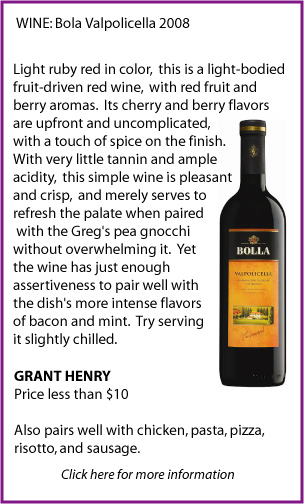 Bola Valpolicello Wine Pairing by Grant Henry