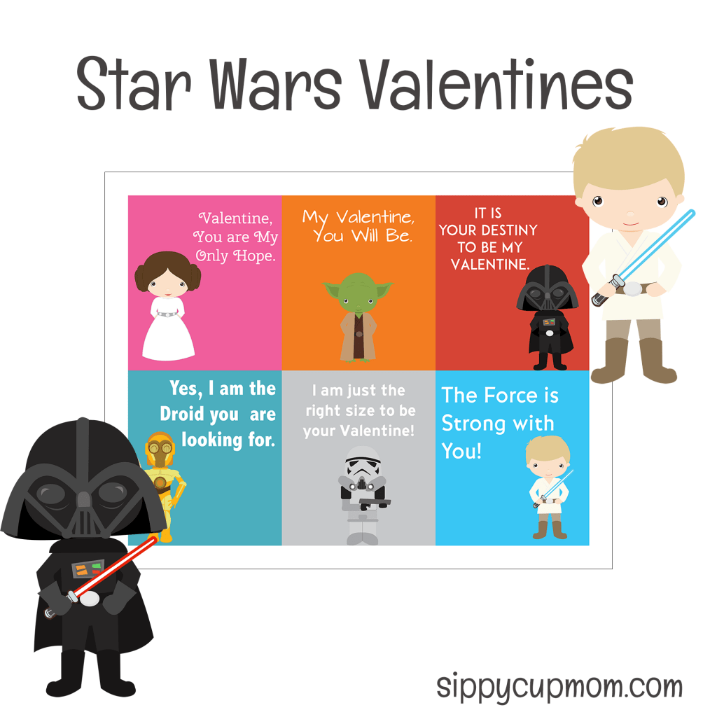 Free Printable Star Wars Valentine S Day Cards
