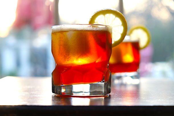 Pimm's No.1 and Bourbon