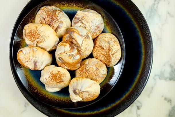 Meyer Lemon & Chocolate Swirl Meringue Cookies