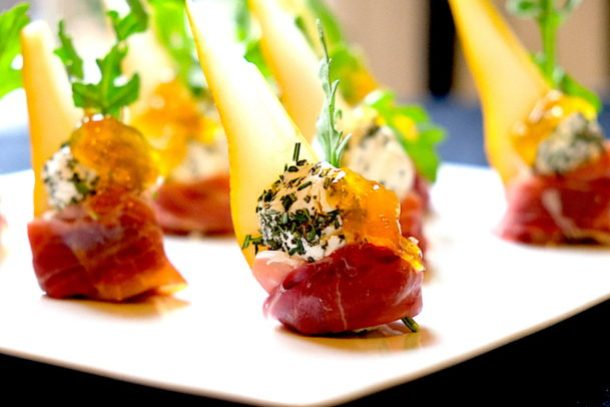 Pear Prosciutto Rosemary GoatCheese Hors D'Oeuvres