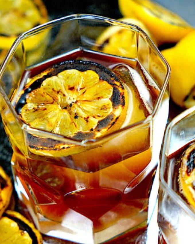 Charred Lemon Whisky Sour