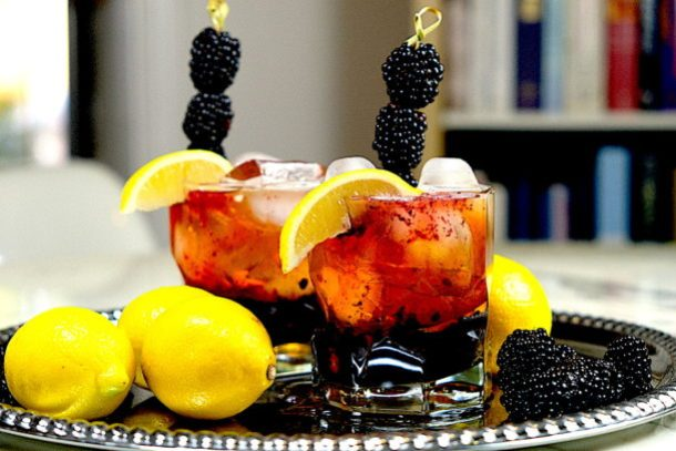 Blackberry Lemon Bourbon Smash