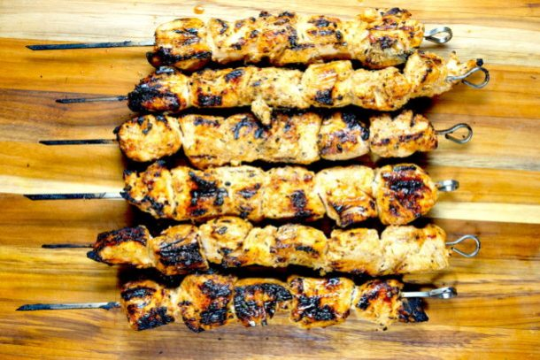 Grilled Veggie Skewers & Shish Tawook