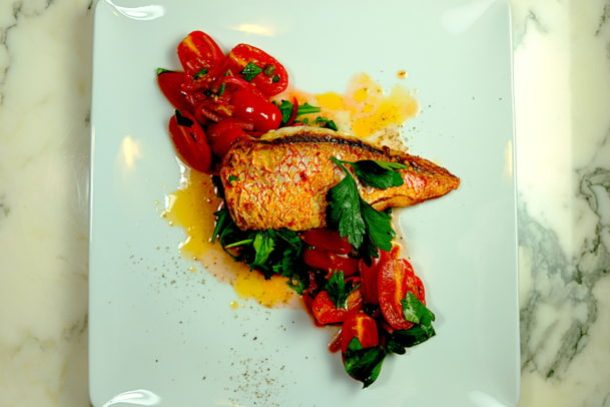 Red Snapper With Tomato Vinaigrette