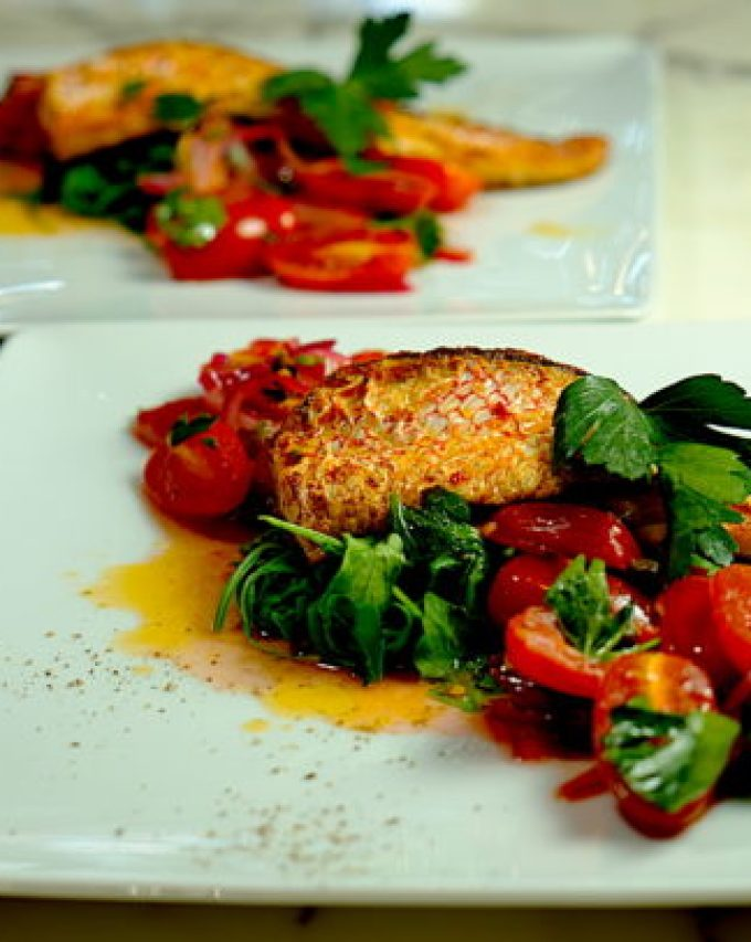 Red Snapper with Warm Tomato Vinaigrette