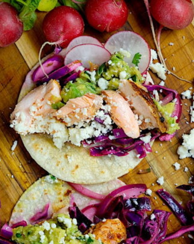 Seared Salmon Fish Tacos