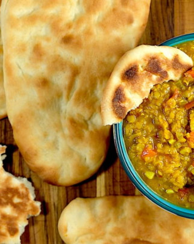 dhal and naan