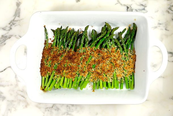 Parmesan Panko Crusted Asparagus