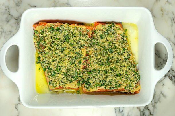Panko Crusted Dijon Salmon