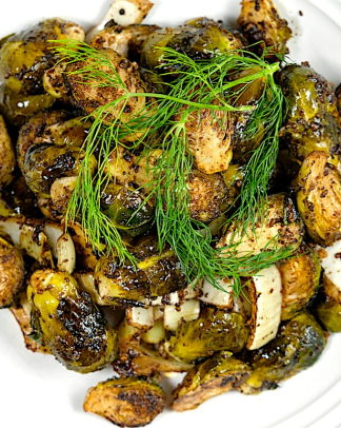 Roasted Brussels Sprouts and Fennel