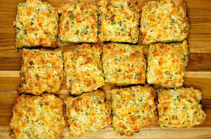 Cheddar Herb Buttermilk Drop Biscuits