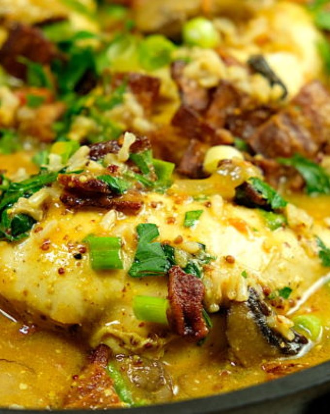 Dijon Chicken and Rice Casserole