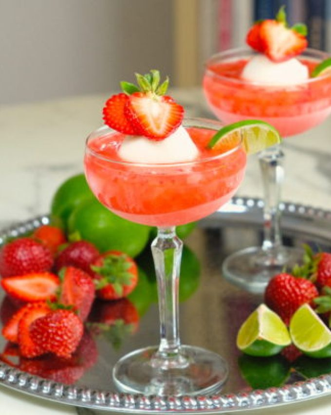 Strawberry Sorbet Margarita