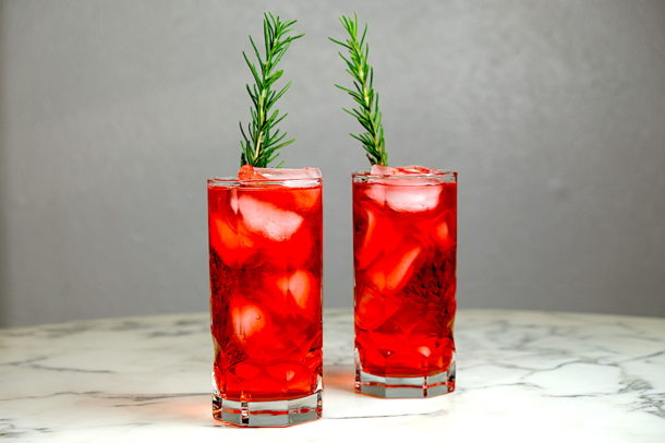 Campari Gin and Tonic