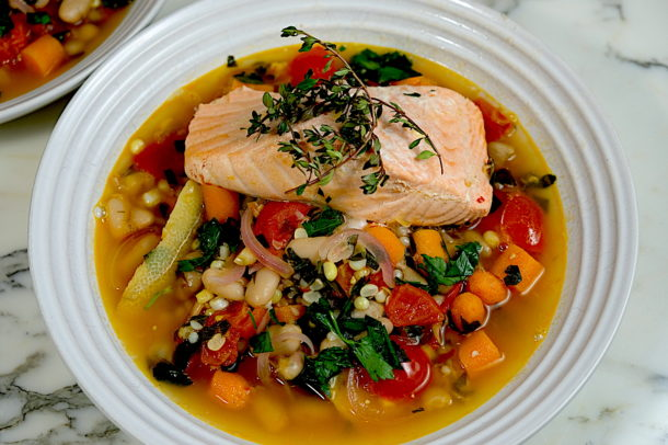 Summer Poached Salmon