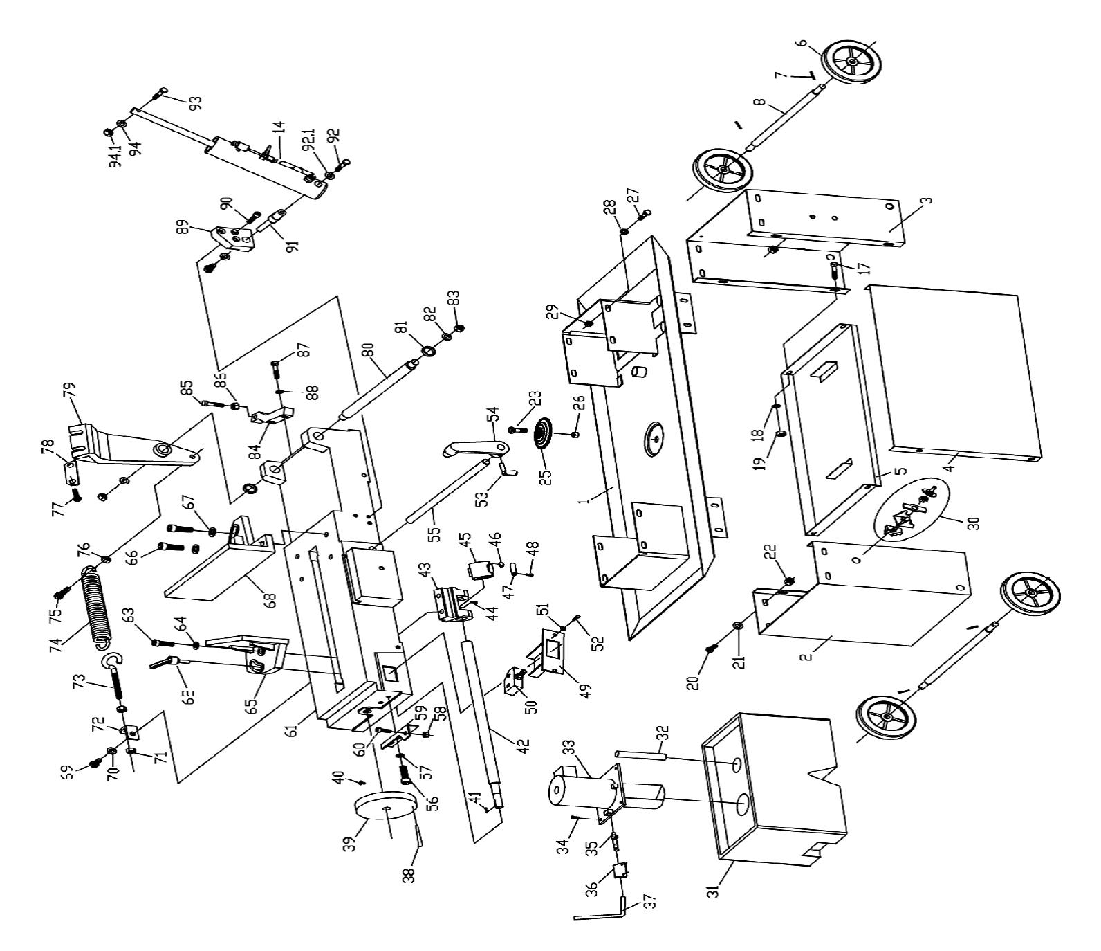 Sip 12 Metal Cutting Bandsaw Diagram