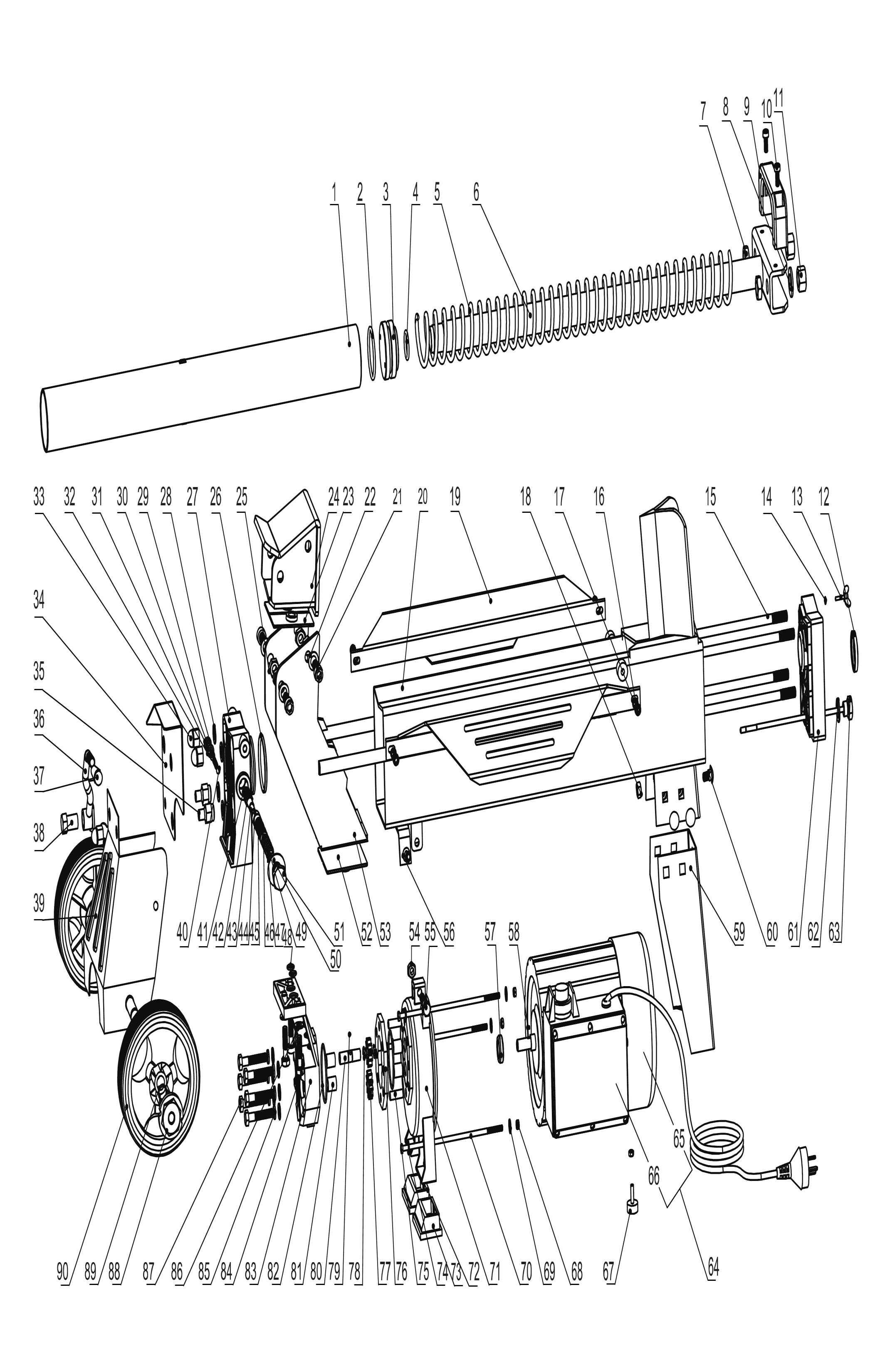 Sip 5t Log Splitter Diagram