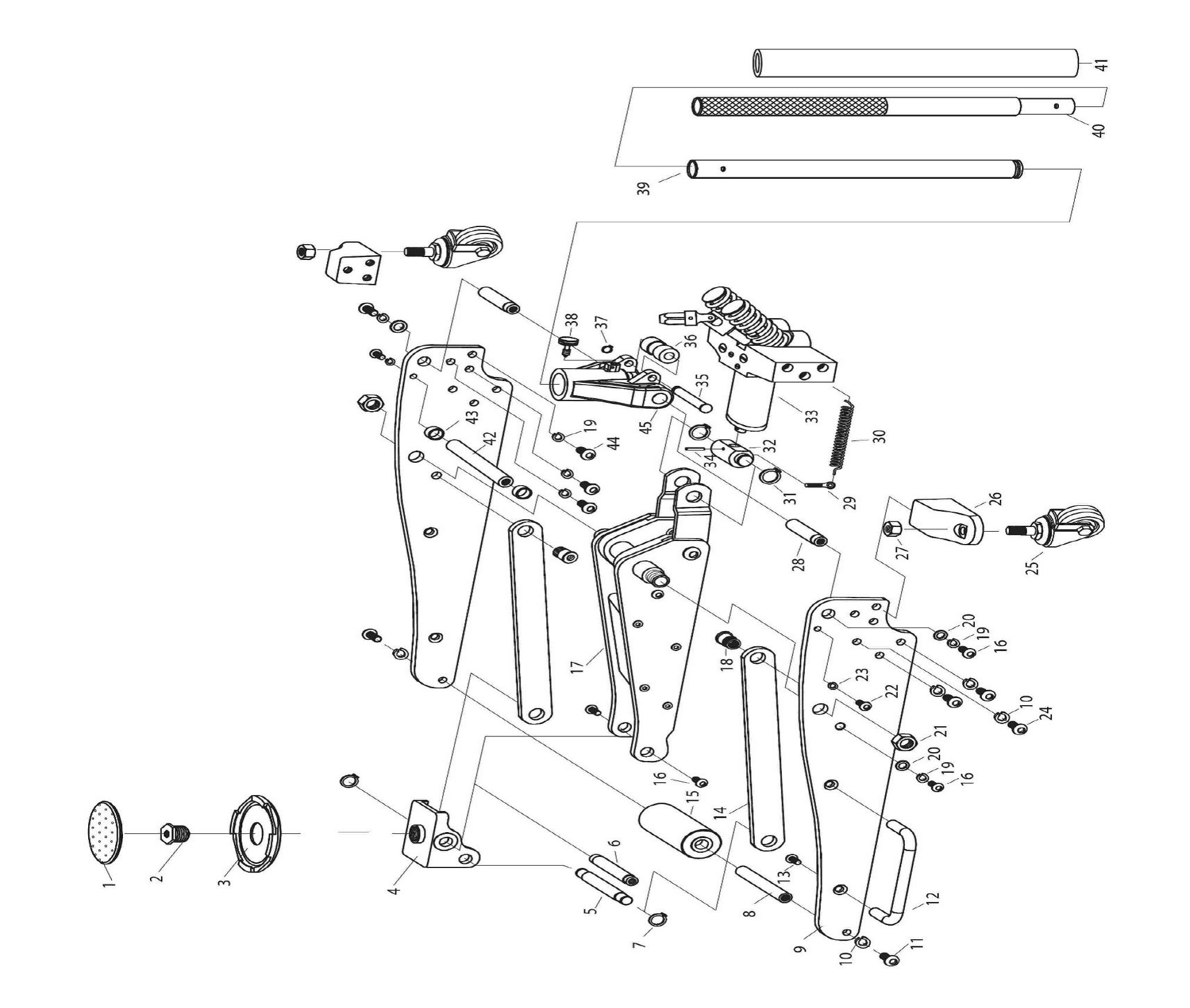 Sip 1 25 Ton Aluminium Racing Jack Diagram