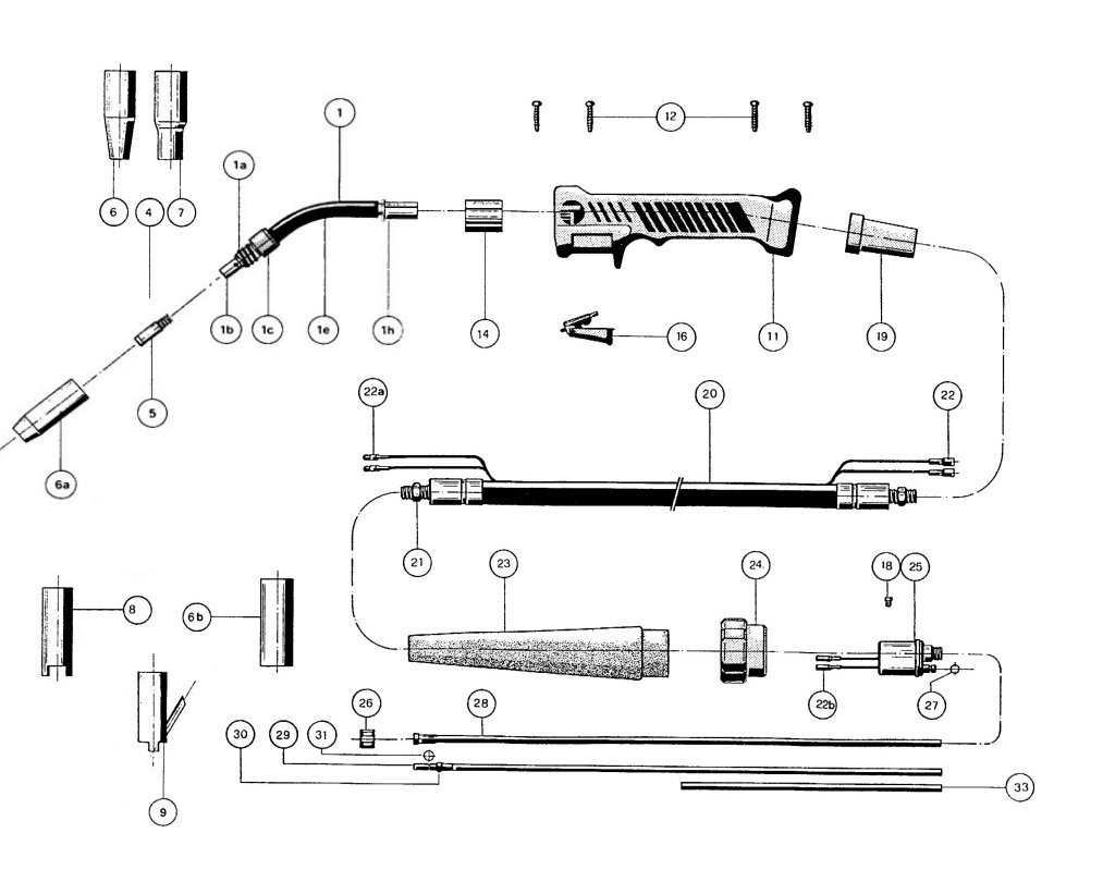 Sip Plus 15 Mig Torch Diagram