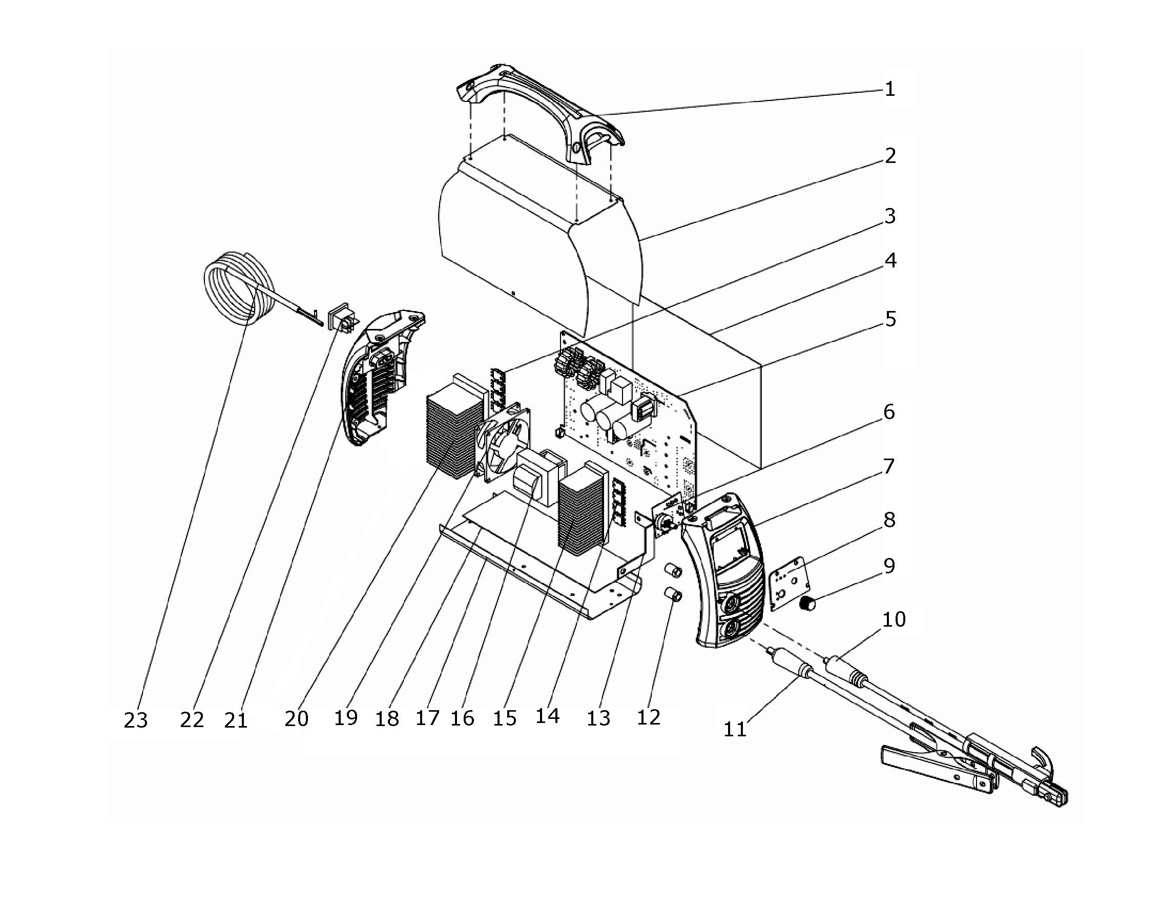 Sip T183 Inverter Arc Tig Welder Diagram