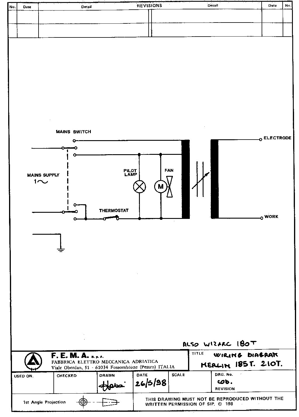 Sip Merlin 210t Circuit Diagram