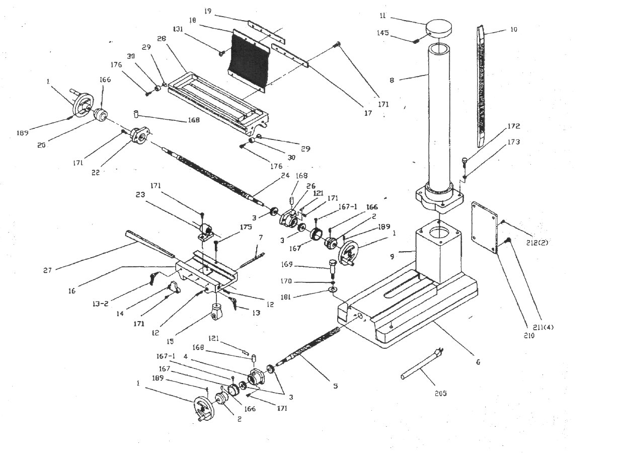 Sip Milling Drill Base Diagram