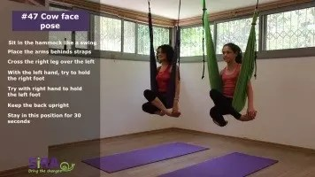 Cow face pose – exercise #47
