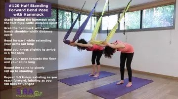 Half Standing Forward Bend Pose with Hammock – exercise #120