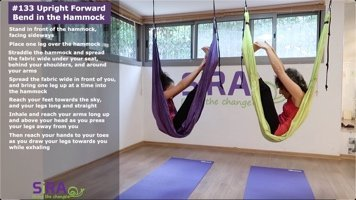 Upright Forward Bend in the Hammock – exercise #133