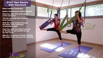 Hips Square with Hammock – exercise #147
