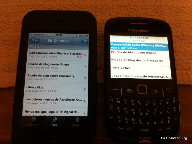 En USA eran Iphones o Blackberry