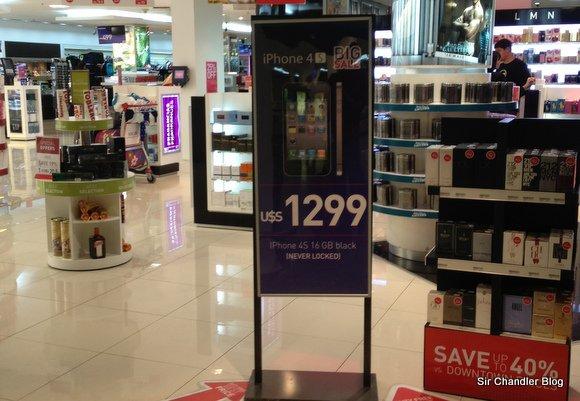 iPhone 4s liberado. Súper oferta en el free shop de Ezeiza