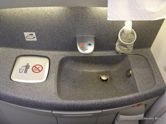 El baño tecnoso del Boeing 787
