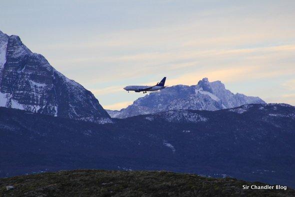 Fotos de un Boeing 737 aterrizando en Ushuaia