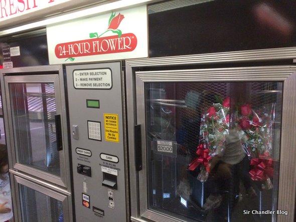ATM para todo: hoy el dispenser de rosas